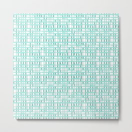 Modern Mint Abstract Turquoise Lines Metal Print