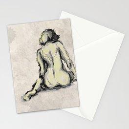 Nude female body sketch 1 Stationery Cards