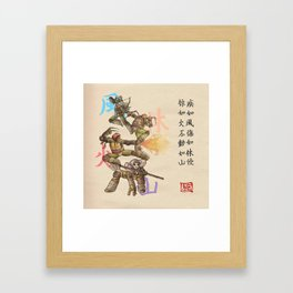 TMNT Furinkazan Framed Art Print