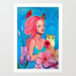 Fairy in wonderland Art Print