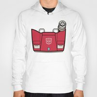 transformers Hoodies featuring Transformers - Sideswipe by CaptainLaserBeam