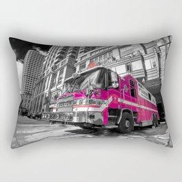 Pink Fire Truck Rectangular Pillow