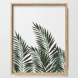 Palm Leaves Green Serving Tray