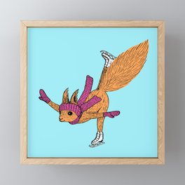 Figure Skating Squirrels Framed Mini Art Print