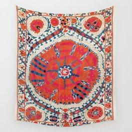 Large Medallion Suzani Bokhara Uzbekistan Embroidery Print Wall Tapestry
