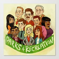 parks and recreation Canvas Prints featuring Parks and Recreation by Michael Ramstead