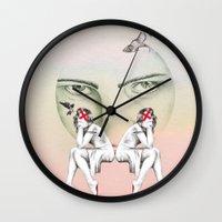 cinderella Wall Clocks featuring Cinderella by Kayleigh Day
