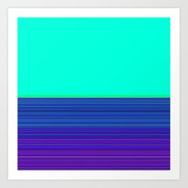 Re-Created Color Field and Stripes 9 by Robert S. Lee Art Print