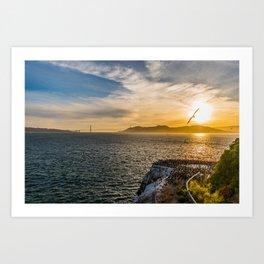 San Fran Sunset Art Print