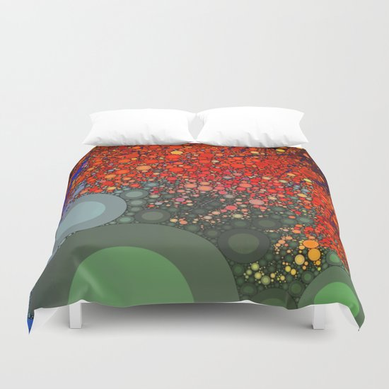 Happy - Tangerine Duvet Cover