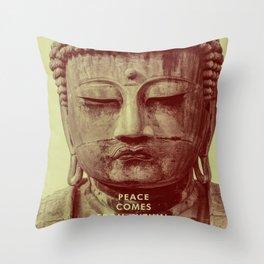 Buddha Duotone 3 Throw Pillow