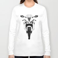 honda Long Sleeve T-shirts featuring Honda Motorcycle by SABIRO DESIGN