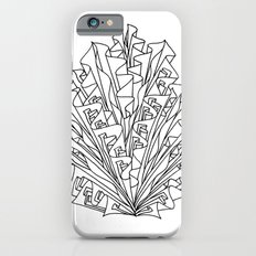 flame line art - white iPhone 6s Slim Case