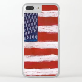 Wave the Flag Clear iPhone Case