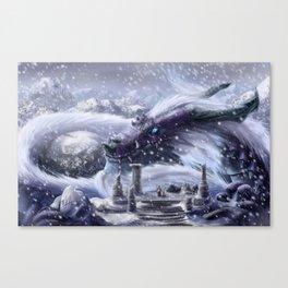 Arctic Dragon Canvas Print
