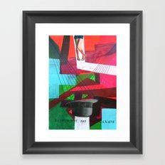 Ceci n´est pas un collage Framed Art Print