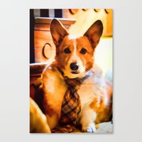 chuck Canvas Prints featuring Chuck by Cathy Donohoue