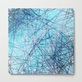 World Wide Web White & Blue Metal Print
