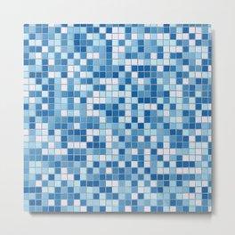 Blue Pool Squares Metal Print