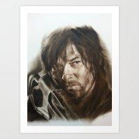 daryl dixon Art Prints featuring Daryl Dixon by David Nash