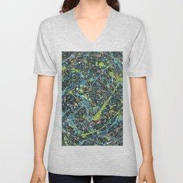 Galaxy Splatter Paint Art Unisex V-Neck