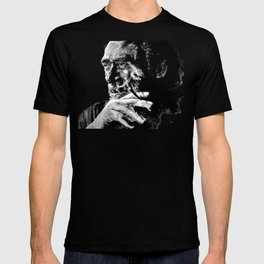 Charles Bukowski - love version - black T-shirt