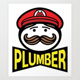 Plumber Potato Chips Art Print
