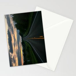 Just standin' in the middle of a country road and watchin' the sun set... Stationery Cards
