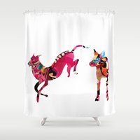 dogs Shower Curtains featuring dogs by Alvaro Tapia Hidalgo