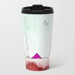 Camping on the Red Earth Travel Mug