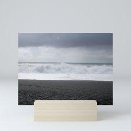Black sand beach of Vik Iceland Mini Art Print