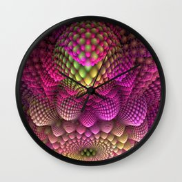 Colored Romenesco Wall Clock