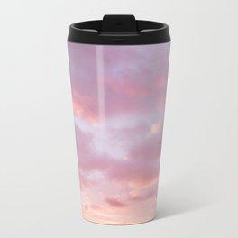 Unicorn Sunset Peach Skyscape Photography Metal Travel Mug