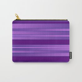 Purple Ombre Stripes Carry-All Pouch