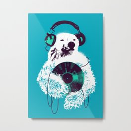 Record Bear Metal Print