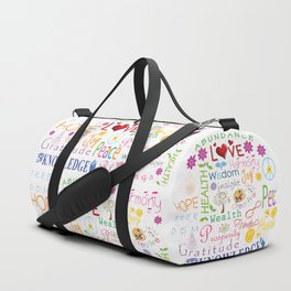 Inspirational Words Duffle Bag
