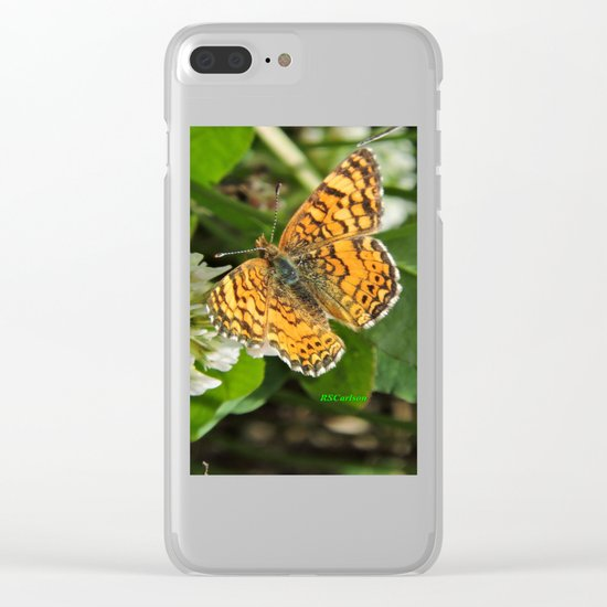 A Mylitta Crescent Butterfly at Rest Clear iPhone Case