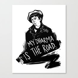 My Dharma is the Road Canvas Print
