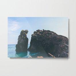 Mediterranean beach rock Metal Print