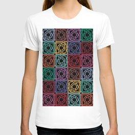 Maze Colorful Seamless Pattern II T-shirt