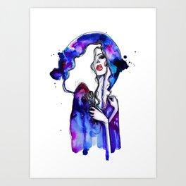 Violet sky  Art Print