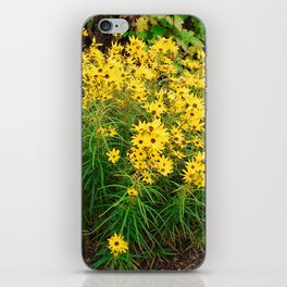 Yellow Wildflowers iPhone Skin