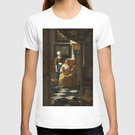 """Johannes Vermeer """"The love letter"""" T-shirt"""