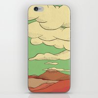 desert iPhone & iPod Skins featuring Desert by The Bad Artist