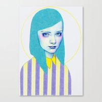 pastel Canvas Prints featuring Pastel by Natalie Foss