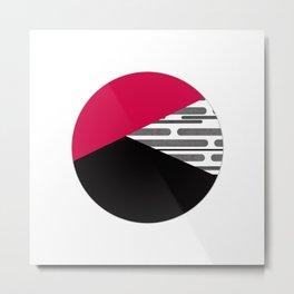 Patchwork , circle Metal Print