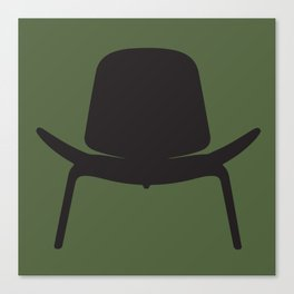 Wegner Chair Silhouette Canvas Print
