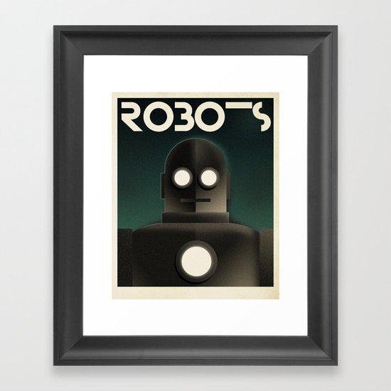 Cassandre Spirit - Robots Framed Art Print