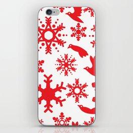 Snowbird Pattern iPhone Skin