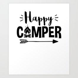 Love to Camp Camping Design Art Print